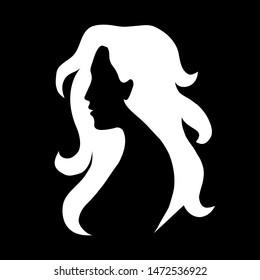 beauty girl silhouette black white