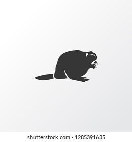 Beaver icon symbol. Premium quality isolated muskrat element in trendy style.