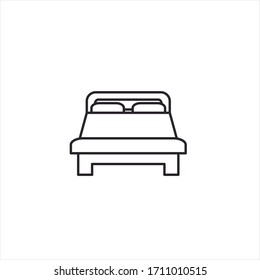 bed icon design template.illustration in flat minimalistic style