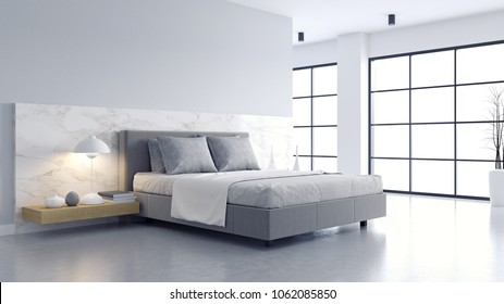 Modern Minimalist Bedroom Images, Stock Photos & Vectors ...