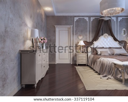 Royalty Free Stock Illustration Of Bedroom Rich House Bohemian Trend