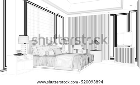 Wire Bed | Bedroom Wire Mesh Model Bed 3 D Stock Illustration 520093894