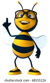 Bee with glasses