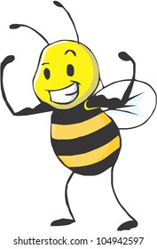 Bee Strong / Be healthy and strong like the strong bee