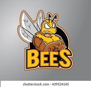 Bee strong design vector illustration