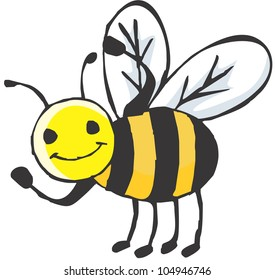 Bee Strong / A strong bee showing its muscles