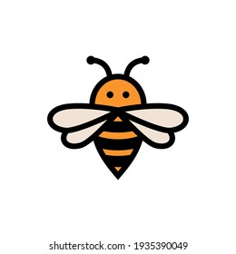 Bee symbol graphic design, with simple and clean shapes.