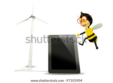 Ecoconcept bee tablet eco concept stock illustration 97105904 - shutterstock