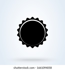 Beer Bottle cap . Illustration isolated icon.