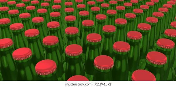 Beer Bottle Packaging  Mockup Background  for Design Project - Mock Up 3D illustration Isolate on White Background