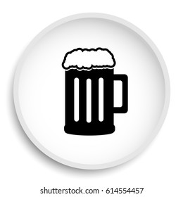 Beer icon. Beer website button on white background.
