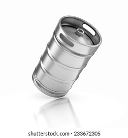 beer keg isolated on white