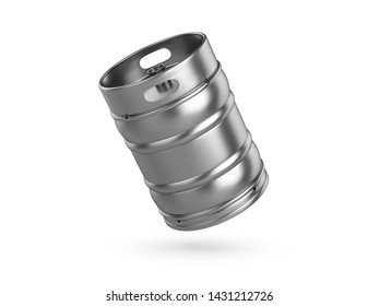 Beer keg on a white background. 3d illustration.