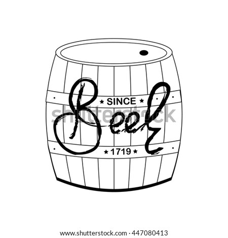 Royalty Free Stock Illustration Of Beer Sign Beer Lettering Draw On