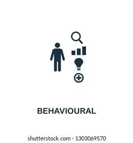 Behavioural icon. Premium style design, pixel perfect behavioural icon for web design, apps, software, printing usage.