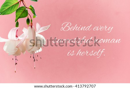 Behind Every Successful Woman Herself Quote Stock Illustration