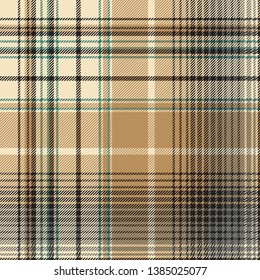 Beige abstract plaid seamless pattern.
