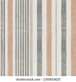 beige, brown, colored modern retro vertical stripes on natural linen textures  background with  vintage effect . Lines Grunge Pattern for Linen, Fabric, Wallpaper. Trendy illustration background
