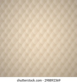 Beige Capitone Upholstery Pattern Background with Buttons for Decoration. Classics and Rococo. Rendering in 3D Program.