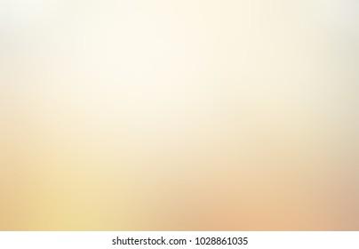Beige empty background. Pale abstract texture. Glow blurred illustration. Matte defocused pattern.