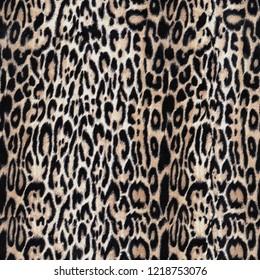beige feathered leopard pattern