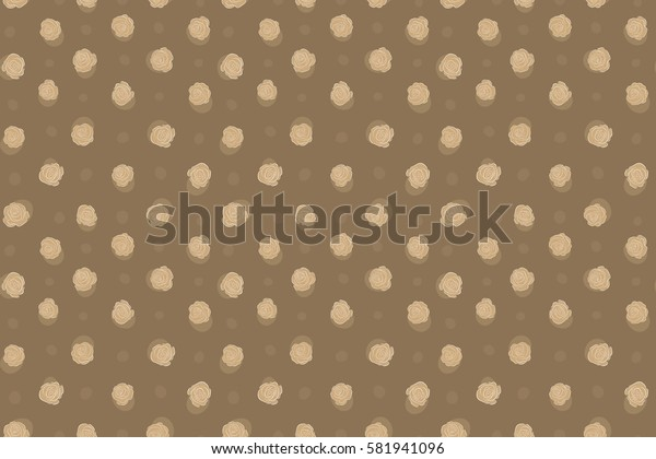 Beige roses for fabric or embroidery.