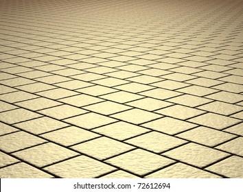 beige tiled floor