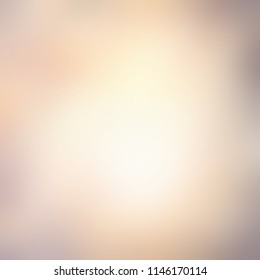 Beige yellow gray smoky vignette on white blurred background. Abstract texture. Toned gradient ombre. Hipster autumn empty illustration.