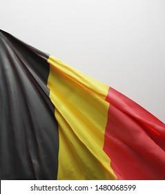 Belgian Flag, Belgium National Colors Background 3D Rendering