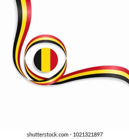 Belgian flag wavy abstract background. Raster version.