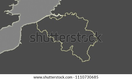 Belgium Topographic Map.Royalty Free Stock Illustration Of Belgium Area Map Azimuthal