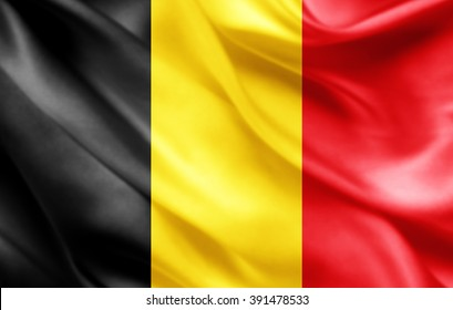 Belgium flag of silk
