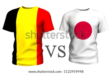 cb0c03df0 belgium vs japan . Soccer concept. isolated on White background with the flag  t-