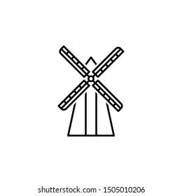 Belgium, windmill icon. Element of Belgium icon on white background