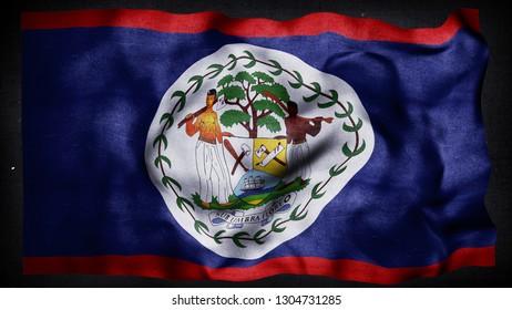 Belize flag 3d render