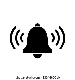 Bell linear icon on white. illustration