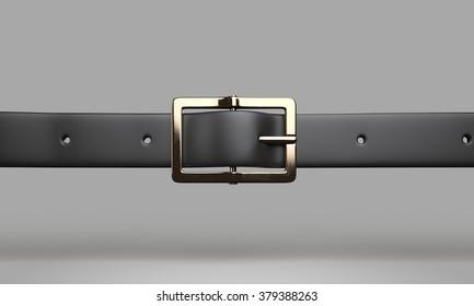 belt buckle black leather