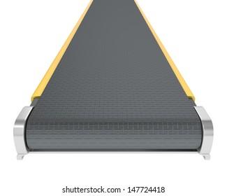 Belt conveyor isolated on white background