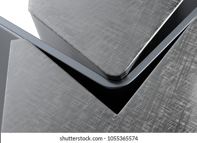 bending metal sheet by sheet bending machine 3d render