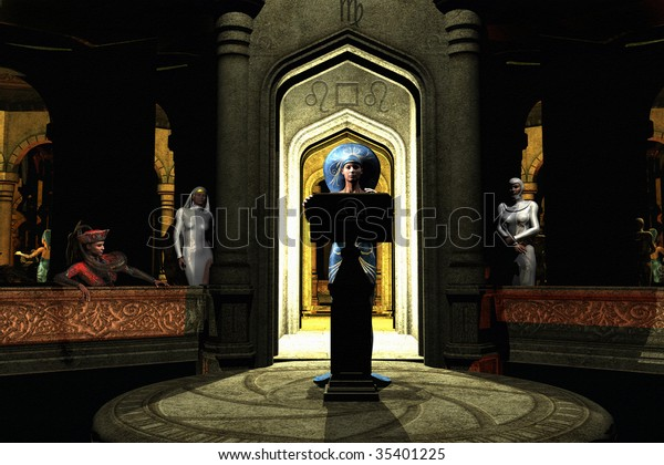 Benediction a group of women meet secretly in the great hall to listen to the Matriarch. Illustration with textured background