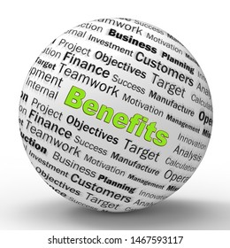 Benefits or perks concept icon showing subsidies and assistance given to employees. A beneficial package to give allowances - 3d illustration