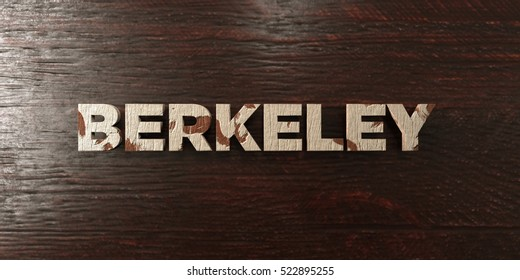 Berkeley - grungy wooden headline on Maple  - 3D rendered royalty free stock image. This image can be used for an online website banner ad or a print postcard.