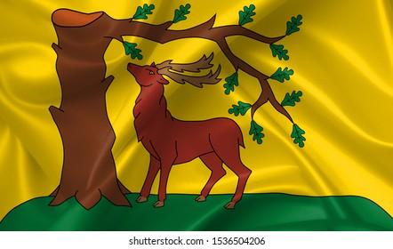 berkshire flag country symbol illustration