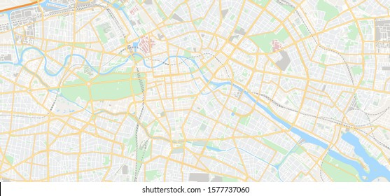 Berlin Central, Berlin- Detailed GPS Map - Printable - Wall Decor, Presentation - Other Purposes