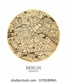 Berlin, Germany Coaster Detailed GPS Map - Printable - Wall Decor, Presentation - Other Purposes
