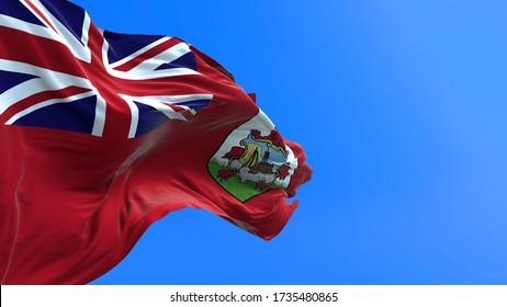 Bermuda flag - 3D realistic waving flag background