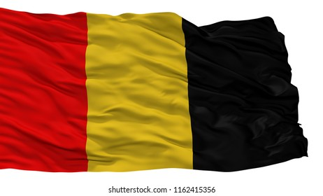 Besancon City Flag, Country France, Isolated On White Background