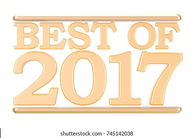 Best of 2017 concept. 3D rendering isolated on white background