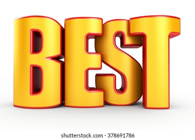 Best 3d text isolated over white background