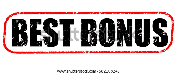 best bonus red and black stamp on white background.